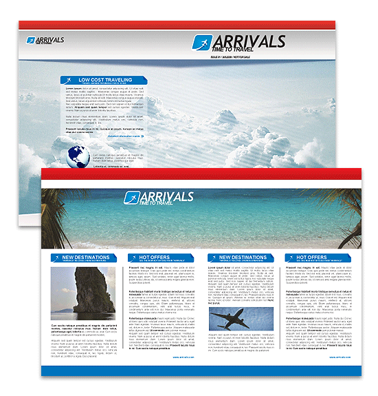 travel business newsletter microsoft word template newsletter templates ready made office templates