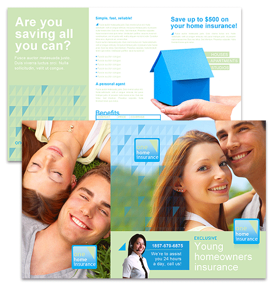 Family Insurance Brochure | Brochures | Ready-Made Office Templates