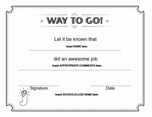 free funny award certificate templates for word - way to go award certificate microsoft word award