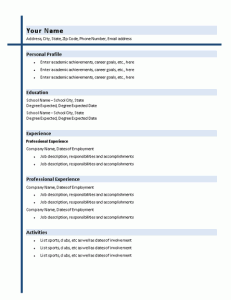 college graduate resume with shading resumes and cv templates