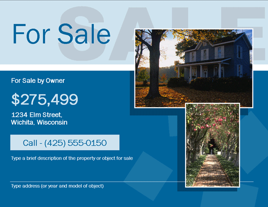 This For sale by owner (FSBO) flyer template based on all the information