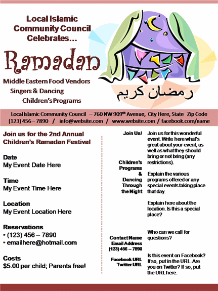 ramadan poster flyer event design slide business presentation flyer