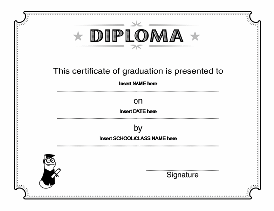 Graduate Degrees Online/Offline Diploma Certificate Template | Award  Certificates | Ready Made Office Templates Idea Diploma Word Template