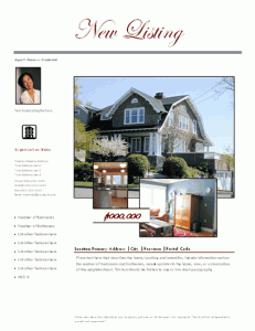 ebay templates for sale - new listing flyer with agent and house photos free flyer
