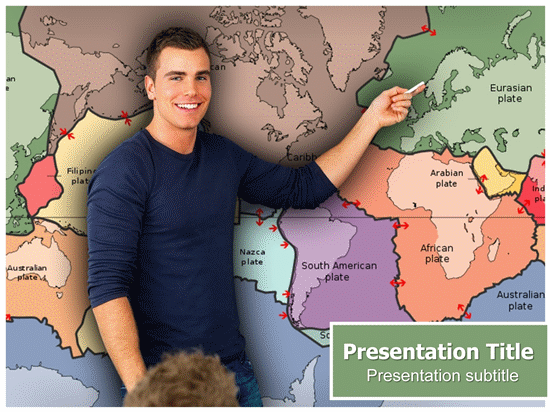 Plate Tectonics - Geographic Powerpoint Presentation Template