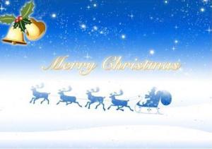 Beautiful Christmas Greetings Card - Merry Christmas