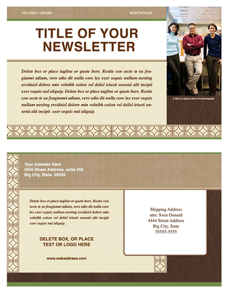 Free Newsletter Templates  Free Newsletter Templates For Microsoft Word 2007
