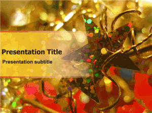 Christmas Party Template - Decorations and Candles presentation