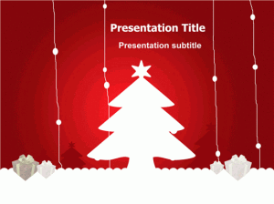Beautiful Animated Christmas Tree Card With Stars & Lights Created in Microsoft Powerpoint