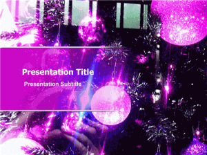 Christmas Lights Party Presentation Template