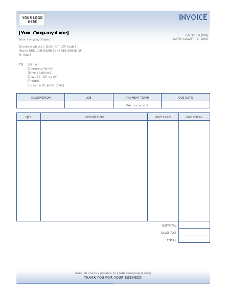 Invoice Template | Invoices | Ready-Made Office Templates