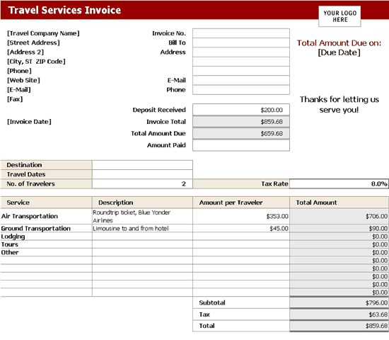 invoice template | invoices | ready-made office templates, Invoice examples