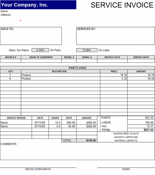 expense invoice template word – neverage, Invoice examples