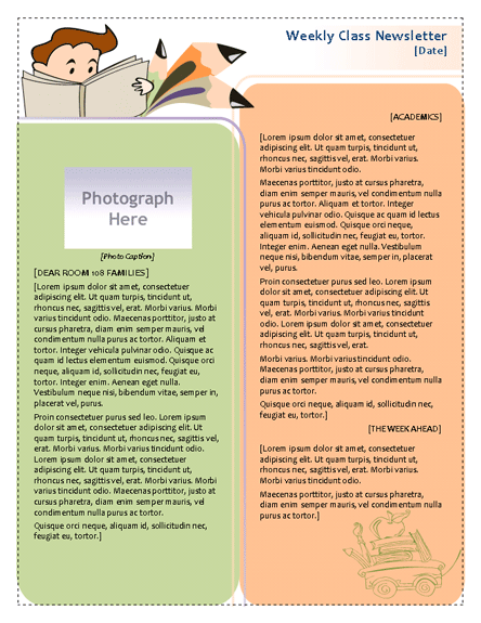 Classroom Newsletter Template | Newsletter Templates | Ready-Made ...