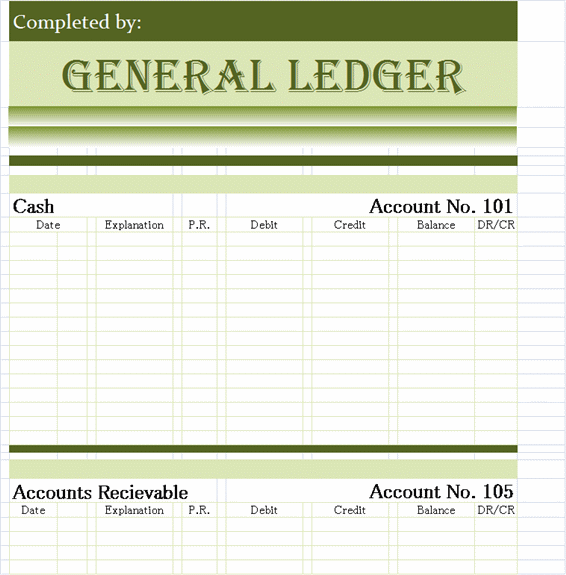Free Ledger Templates  Printable Accounting Ledger