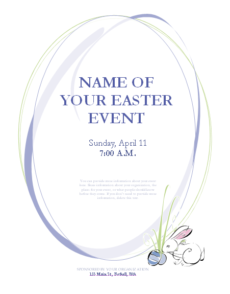 Easter Flyer Template Flyers – Easter Flyer Template