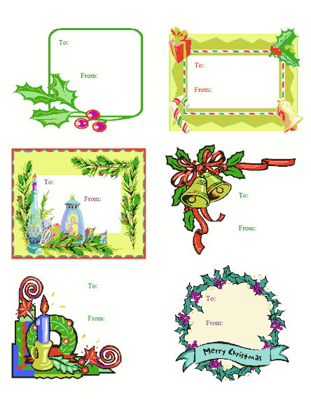 christmas card labels