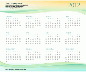 2012 Excel Calendar Template With Next And Previous Years