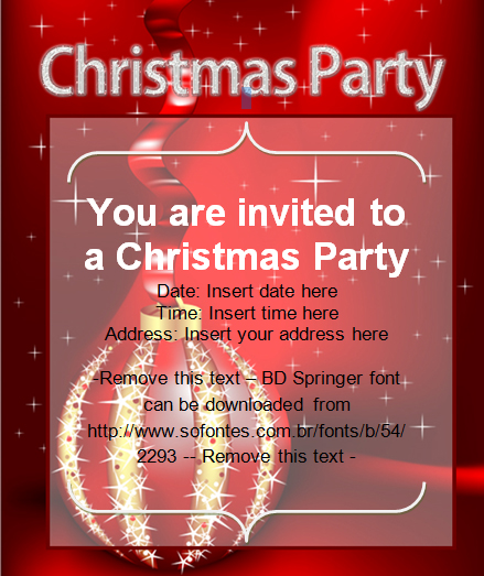 Beautiful Christmas Party Invitation Card – Christmas Party Invitation Card