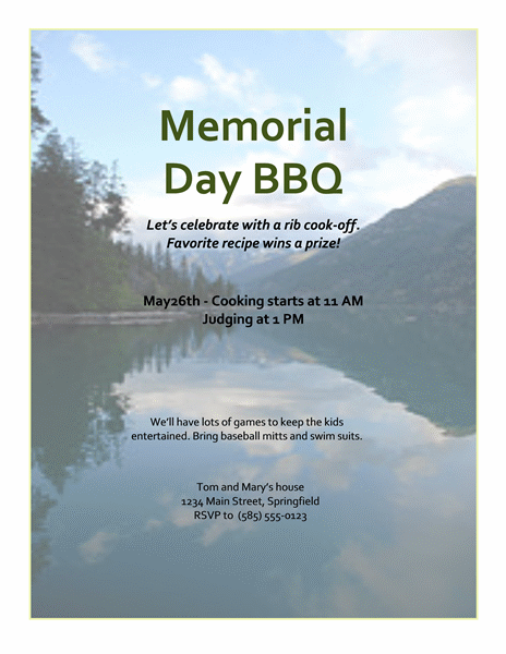 5 best memorial day templates